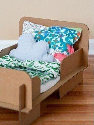 Как сделать кровать для куклы5