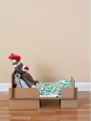 Как сделать кровать для куклы7