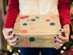 как красиво украсить коробку 13