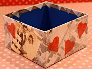 как красиво украсить коробку 3