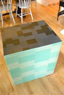 как сделать домик из коробки10
