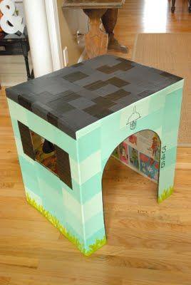 как сделать домик из коробки13