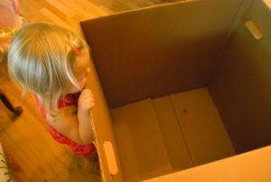 как сделать домик из коробки2