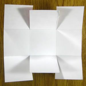Как сделать из бумаги корзинку10