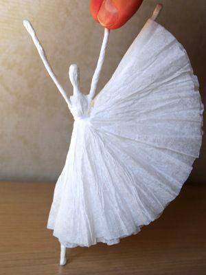 как сделать из проволоки балерину 9