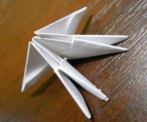 Как сделать лебедя из модулей19