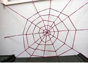 Как сделать паутину своими руками12