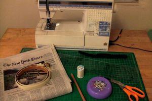 как сделать платье из газет1