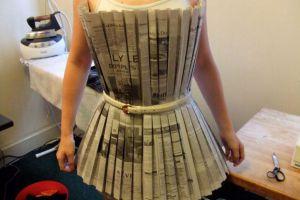 Как сделать платье из газет21