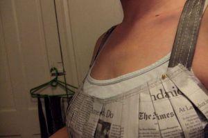 Как сделать платье из газет42