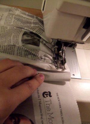 Как сделать платье из газет47