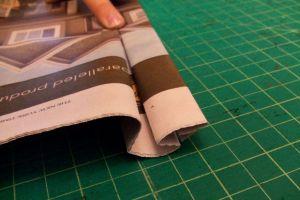 как сделать платье из газет9