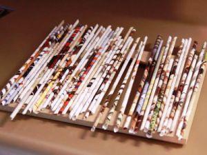 как сделать рамку из газеты6