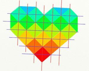 Как сделать сердце из модулей32