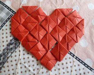 Как сделать сердце из модулей38