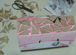 как сделать вазу из картона 2