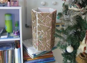 как сделать вазу из картона 3