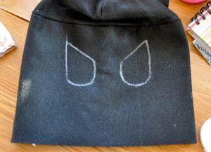 как сшить маску бэтмена 8