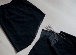 Как сшить юбку с воланами1