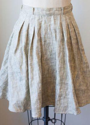 Как сшить юбку в складку16