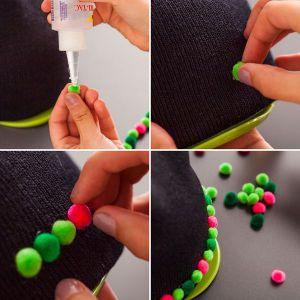 Как украсить вязаную шапку10