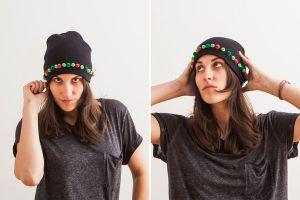 Как украсить вязаную шапку11