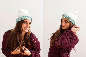 Как украсить вязаную шапку4