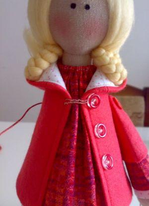 Кукла Снежка - мастер-класс35