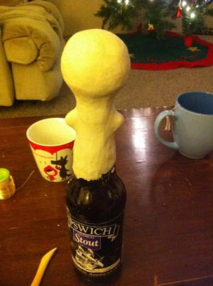 Кукла из бутылки своими руками15