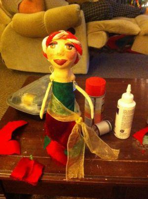 Кукла из бутылки своими руками54