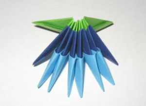 модульное оригами цветы мастер класс 1