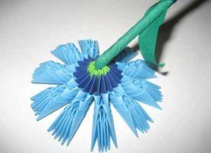 модульное оригами цветы мастер класс 10