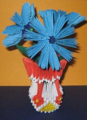 модульное оригами цветы мастер класс 12