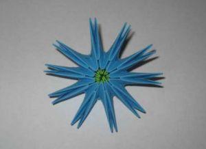 модульное оригами цветы мастер класс 3