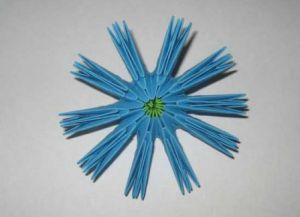 модульное оригами цветы мастер класс 4
