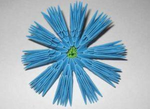 модульное оригами цветы мастер класс 5