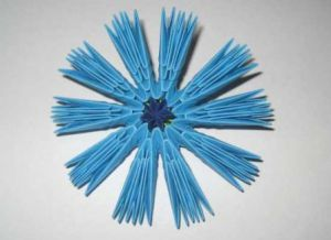 модульное оригами цветы мастер класс 7