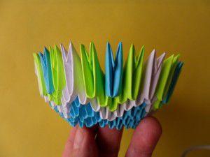 Модульное оригами конфетница схема сборки фото 350
