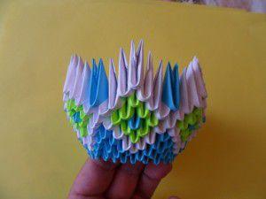 Модульное оригами - конфетница16
