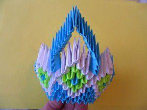 Модульное оригами - конфетница19