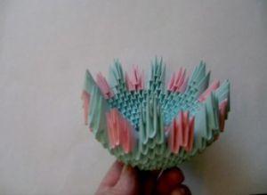 модульное оригами корзинка мастер класс10
