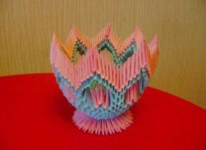 модульное оригами корзинка мастер класс17
