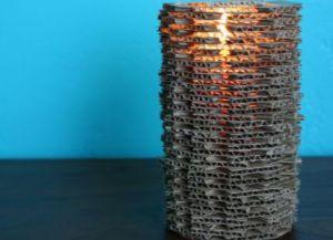 необычная ваза из картона9