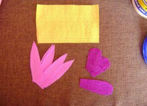 Орхидея из гофрированной бумаги2