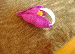 Орхидея из гофрированной бумаги9