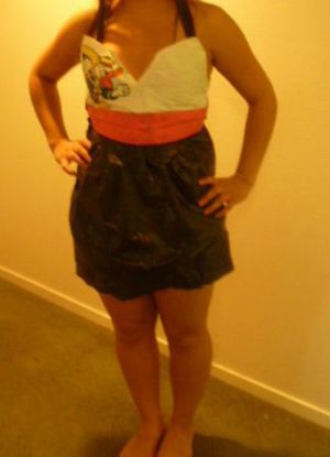 платье из пакетов24