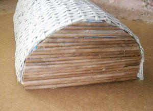 плетение сундука из газетных трубочек11