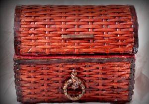 плетение сундука из газетных трубочек23