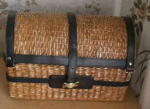 плетение сундука из газетных трубочек24