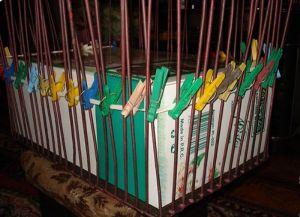 плетение сундука из газетных трубочек5